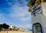 A lifeguard tower at Laguna Beach