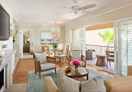 A one bedroom Penthouse Suite at Surf & Sand Resort in Laguna Beach, California