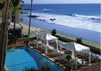 The Surf & Sand pool deck in Laguna Beach
