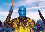The Blue Man Group at Monte Carlo Resort & Casino in Las Vegas