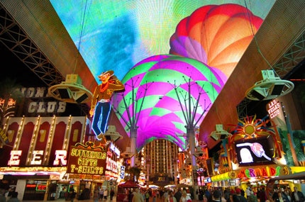The Fremont Experience, a five-block pedestrian promenade, provides a popular alternative to the Las Vegas Strip