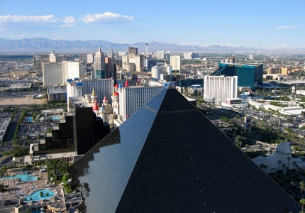 The lively hotels and casinos of Las Vegas