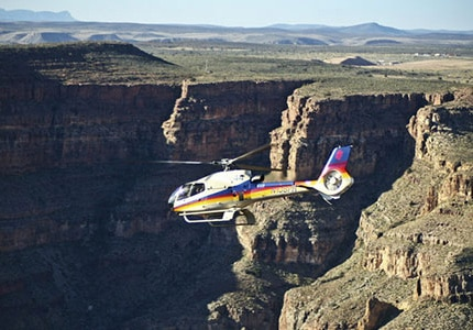 Take a helicopter tour of the Grand Canyon from Las Vegas, Nevada with Scenic Airlines
