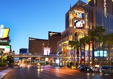 Stay in top Las Vegas hotels during your business trip, such as Wynn Las Vegas or The Venetian