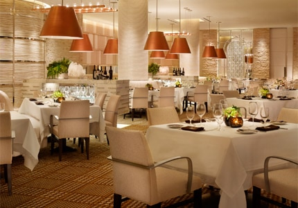 The dining room of SW Steakhouse at Wynn Las Vegas in Nevada