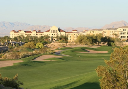 The golf course at the JW Marriot Las Vegas in Nevada