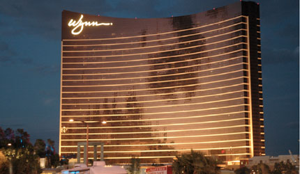 Located just off the Strip, the Wynn Las Vegas is secluded behind a 140-foot-high mountain covered with 1,500 alpine trees, some of them reaching 50 feet.