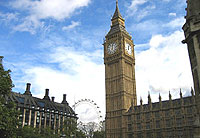 Big Ben at the Houses of Parliament is a London icon