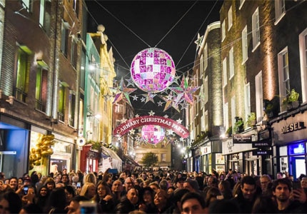 Enjoy holiday festivities at Carnaby in London, England