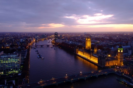 A view of London and the River Thames