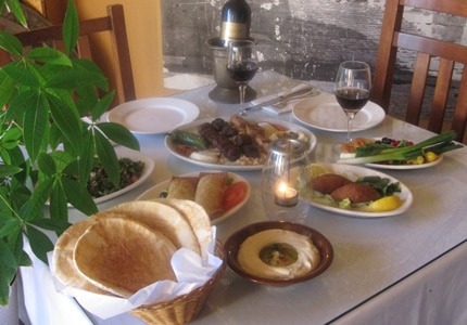 A spread at Marouch, a restaurant serving up traditional Armenian fare in Hollywood's Little Armenia