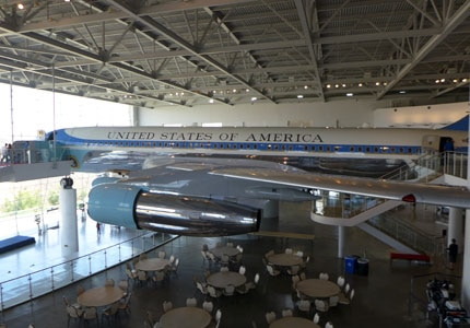 Air Force One Tail Number 27000 at the Ronald Reagan Presidential Library and Museum