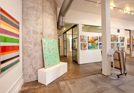 The Artspace Warehouse in Los Angeles, California, occupies a space of more than 4,000 square feet
