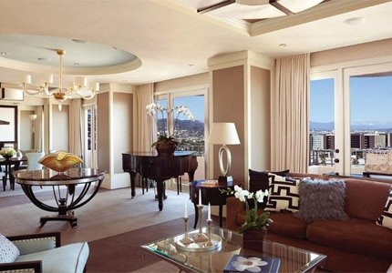 A guest room at the Four Seasons Hotel Los Angeles at Beverly Hills