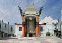 The iconic Grauman's Chinese Theatre on Hollywood Boulevard in Los Angeles