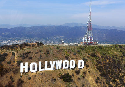 The iconic Hollywood sign in Los Angeles