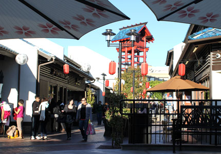 Little Tokyo, a center of Japanese culture and history near downtown LA