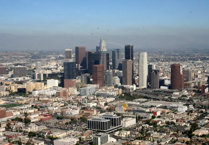 A view of the sprawling metropolis of Los Angeles