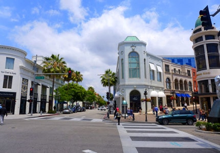 Peruse the boutiques on Rodeo Drive in Beverly Hills, California