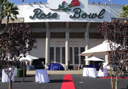 The Rose Bowl in Pasadena, California is a National Historic Landmark