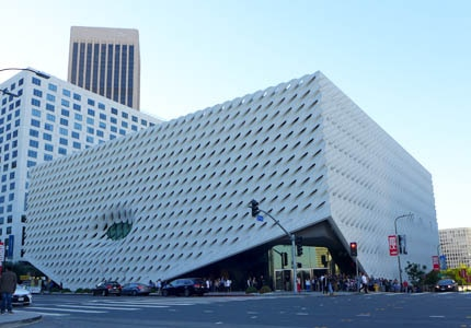 The Broad Museum in LA was built by philanthropists Eli and Edythe Broad