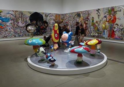 See a variety of contemporary art work at The Broad Museum in Los Angeles, California