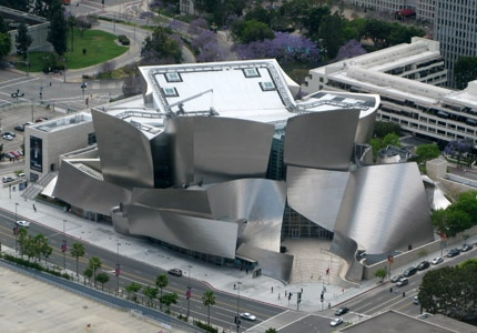 The Walt Disney Concert Hall in Los Angeles, California is home to the Los Angeles Philharmonic