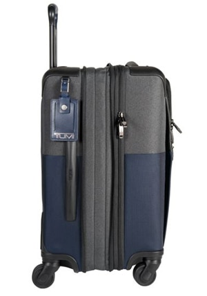 The Alpha 2 Continental Four-Wheeled Carry-On by Tumi, one of GAYOT's Top 10 Luggage Brands