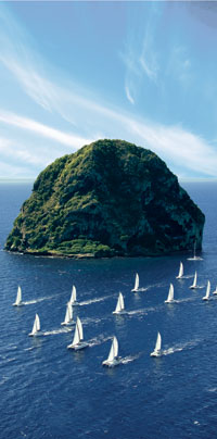 Diamant Rock is situated about three kilometers from Pointe Diamant in Martinique