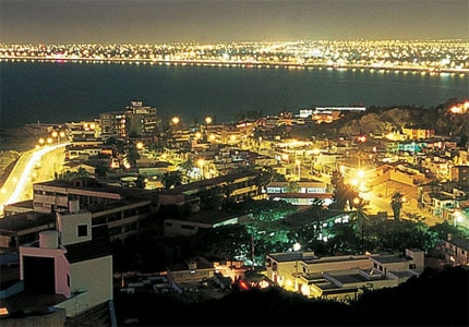 A view of Mazatlan at night