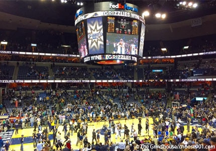 Catch a game of basketball at the FedEx Forum in Memphis, Tennessee