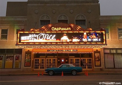 Catch a show at the Orpheum theatre in Memphis, Tennessee