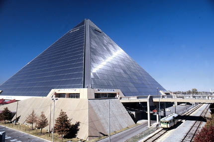 The third largest pyramid in the world is located in Memphis, Tennessee