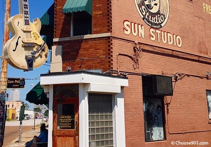 The King of Rock n' Roll Elvis Presley got his start at Sun Studio in Memphis, Tennessee