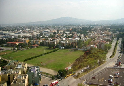 A bird's-eye view of the city of Guadalajara, Jalisco in Mexico
