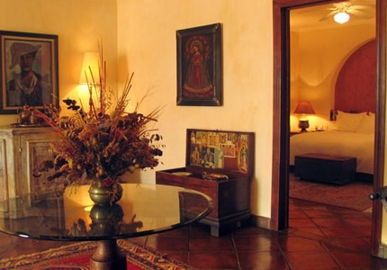 A guestroom at Villa Ganz Boutique Hotel in Guadalajara, Jalisco