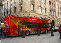 The Turibus is a double-decker sightseeing bus that offers tours of Mexico City D.F.