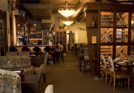 The dining room at Bar Divani in Grand Rapids, Michigan