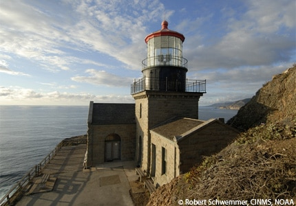 A view of Point Sur Lighthouse in Monterey, California