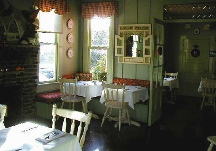 The dining room at Red House Cafe in Monterey, California