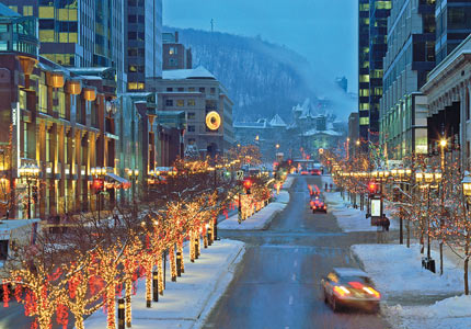 McGill College Avenue in Montreal (Credit: Tourisme Montreal, Stéphan Poulin)