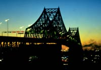 Jacques Cartier Bridge spans the St. Lawrence River in Montreal