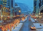 McGill College Avenue during the holidays in Montreal