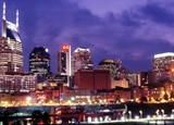 The Nashville skyline at night