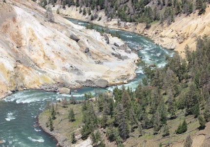 The river winding through the Canyon in Yellowstone National Park, submitted by Sandhya Vijayaraghavan