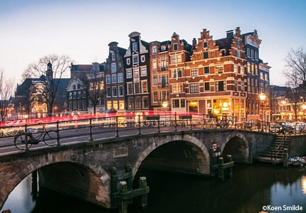 The Brouwersgracht canal in Amsterdam