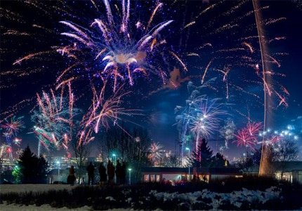Fireworks light up the sky on New Year's Eve in Iceland, one of GAYOT's Top 10 New Year's Eve Destinations