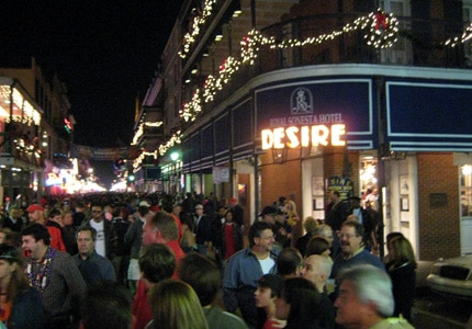 Revelers flock to Bourbon Street for New Year's Eve in New Orleans