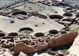 Homes carved into the rocks of Chaco Canyon National Historical Park