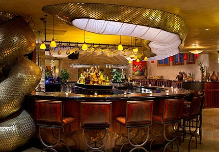 The Anaconda Bar at El Monte Sagrado in Taos, New Mexico